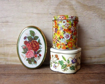 Three Floral Tins Instant Collection