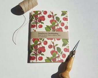 Cherries Notebook - Free U.S. Shipping - Natural Cherries Journal - Pocket Notebook - Jotter - Cherry - Diary