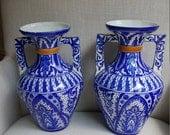 Vintage Blue and White Vases