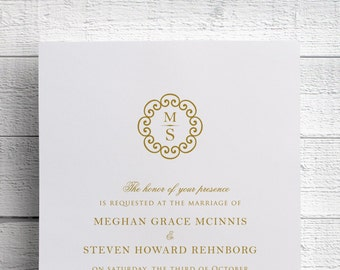 Gold Wedding Invitations - Sample