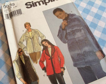 Simplicity Pattern 9939, jacket pattern,  vest pattern, sizes L- XL pattern, factory folded
