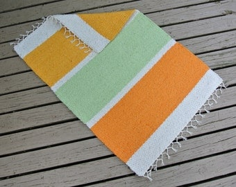 """Hand Woven cotton Rug - 24"""" x 36"""" - build-a-rug, custom, commissioned"""