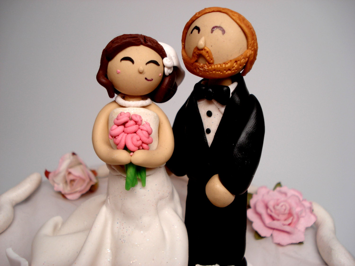 Custom Cake Topper Bride and Groom Wedding Cake Topper People