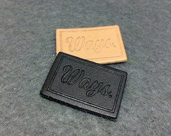 200 leather labels, Custom pu patch leather, Faux leather label, Synthetic Leather label, Beautiful patch leather