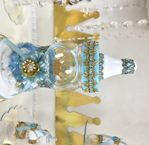 little prince baby shower centerpiece boys baby blue gold