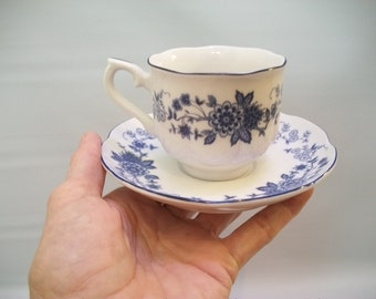 Vintage Tea Cup and Saucer Set, Narumi China, Tea Cup, Craft Supply, Table Setting Sypply, Single Tea Cup and Saucer, Vintage Kitchenware