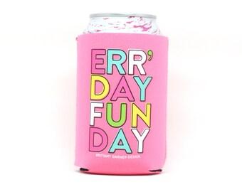 Bachelorette Drink Sleeve, Beverage Cooler, Camping Drink Holder, Beer Lover Gift, Sunday Funday Drink Sleeve, Wedding Drink Holder