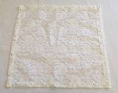 Lace Table Squares, Set of SIX, READY to SHIP, Ivory Lace Table Square, Custom Sizes Available, Wedding, Shower, Party