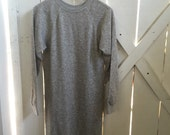 Rare vintage heathered gray sweatshirt dress xs/s