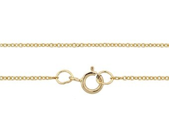 "Chains, Cable Chain With Spring Ring Clasp, 14Kt Gold Filled, 1.2mm 20"" - 1pc (3344)/1"