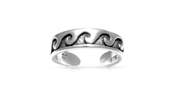 toe rings adjustable 925 sterling silver 4 3mm wide 1pc high