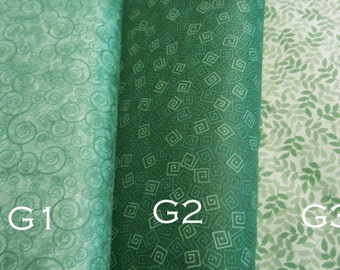 Quilting Treasures, Harmony Blenders, Tone on Tone, Greens