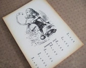 2017 Alice in Wonderland desk calendar set... 5x7""