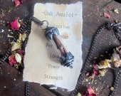 Wiccan jewelry Oak Pendant Necklace fertility protection amulet wiccan wicca pagan metaphysical herbal magick spells occult witchcraft