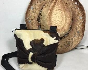 Crossbody Pony Western ,Brown Ivory Pony purse, Tweeny Purse, Tweeny bag, princess purse, Cowgirl Bag, Country Western Bag, CB8X7FF-BowBB