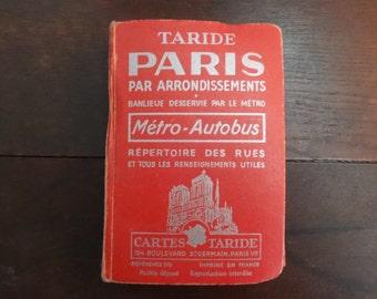 Vintage French Hardback Book Paris Guide Pocket Sized circa 1966 / English Shop