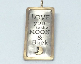 Love You To The Moon Charm (14k gold & sterling)