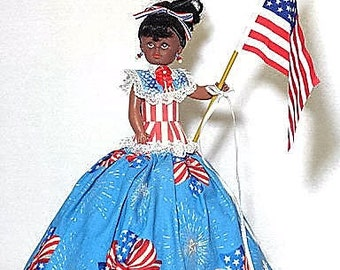 Rayna, musical American American doll, plays God Bless America, July 4th
