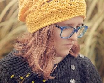 The Yellow Yuppie Slouchy Hat Crochet Pattern