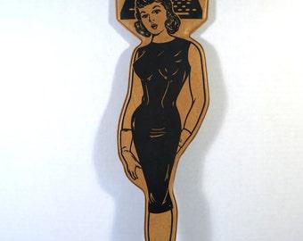 Advertising Novelty Secretary Swatter Spanking Paddle Politically Incorrect Vintage 50's Madmen