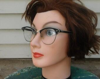 Classic Art Craft Black And White Cat Eye Glasses