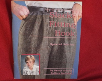 Slacks Fitting Book - the Updated Version, a softback book by Nancy Zieman, Uncut Pattern Included!