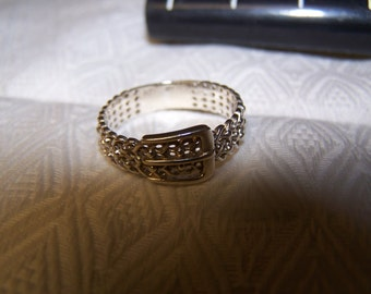 Sterling Silver Belt Ring