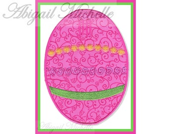 Easter Egg Banner Add On - 3 Sizes, Machine Embroidery