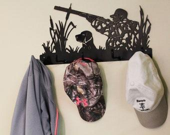 Metal Coat Rack | Wall Decor | Duck Hunting Decoration | Hunter Gift | Metal Wall Art | Metal Hunting Wall Art