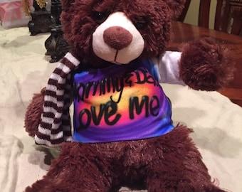 Custom Airbrush Bear with T-shirt