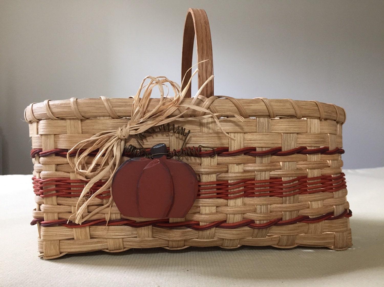 Handmade Market Baskets : Handmade harvest market basket