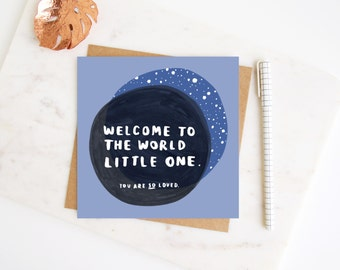 New Baby Card  'Welcome to the World Little One You are SO Loved' - Expecting Parents - Baby Card - Baby Announcement - New Baby