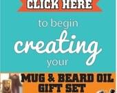 Mug and Beard oil gift set- for him Men's Gift Set Beard Grooming Beer Coffee Mug oils custom quote Tea Hot Chocolate beer stein christmas