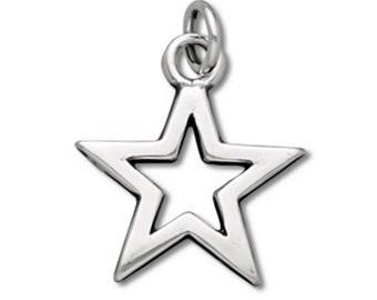 Star Charm 925 Sterling Silver Pendant Celestial