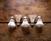 Real Natural Feather Vintage Badminton Shuttlecocks - Birdies - Wickets