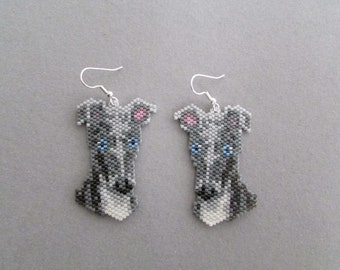 Beaded Greyhound Earrings