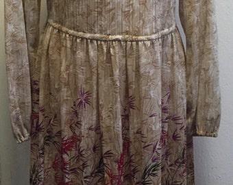 Vintage Gold Dress / 1970's - 80's Dress / Sparkly Gold / Disco Era / Dynasty / Gold Lame