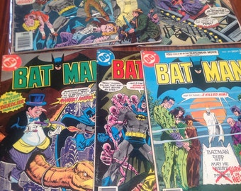 6 issues of batman issues from the 1970s