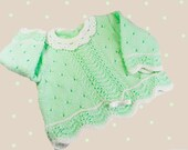 SALE 25 % Hand-knitted baby sweater, knitted baby cardigan, green baby sweater, kids sweater,ready  to ship