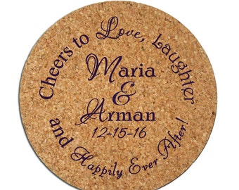 Wedding Favors Coasters 500 Wedding Favor Custom Personalized Round Cork Coaster Favor Ideas