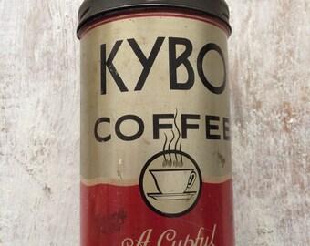 Vintage Kybo Coffee Tin