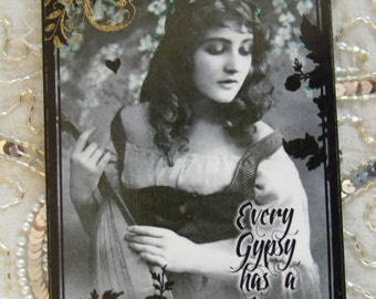 Every Gypsy Has A Song Decoupage Decorative Wall Plaque Hanging Sign