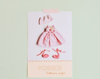 Posie's ballerina outfit pdf pattern/tutorial