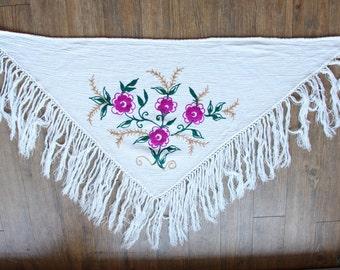 floral fringe wrap