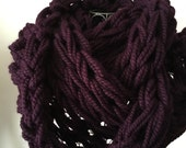FREE SHIPPING Romantic and Versatile Hand Knit Chunky Infinity Scarf