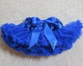Blue Tutu, 0-9 mo, Ready to Ship, Newborn Tutu, Blue Pettiskirt, Baby Girl Tutu, Baby Newborn Infant Petti Skirt, Blue Skirt, Royal Blue
