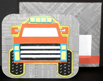 Monster Truck Pop-Up Birthday Card and Box Kit, SVG Cutting Files
