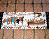 Bayeux Tapestry Runner, Medieval Dollhouse Miniature 1/12 Scale, Hand Made