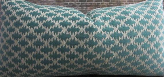 Designer Pillow Cover 12 x 16, 12 x 18, 16 x 16, 18 x 18, 20 x 20 - Caicos Turquoise Blue