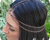 Head Chain Headpiece Head Jewelry Chain Hair Jewelry Headchain Hair Chain Boho Chain Headpiece Body Jewelry Infinity - Ashs Coppah